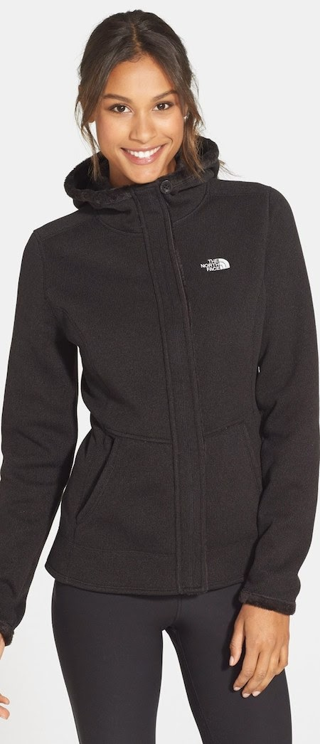 he North Face 'Banderitas' Zip Front Hoodie in black